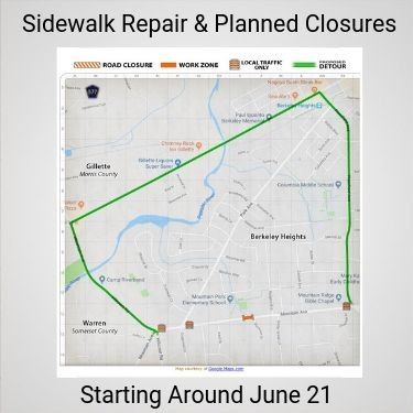 Planned Mountain Ave Detour June 2019