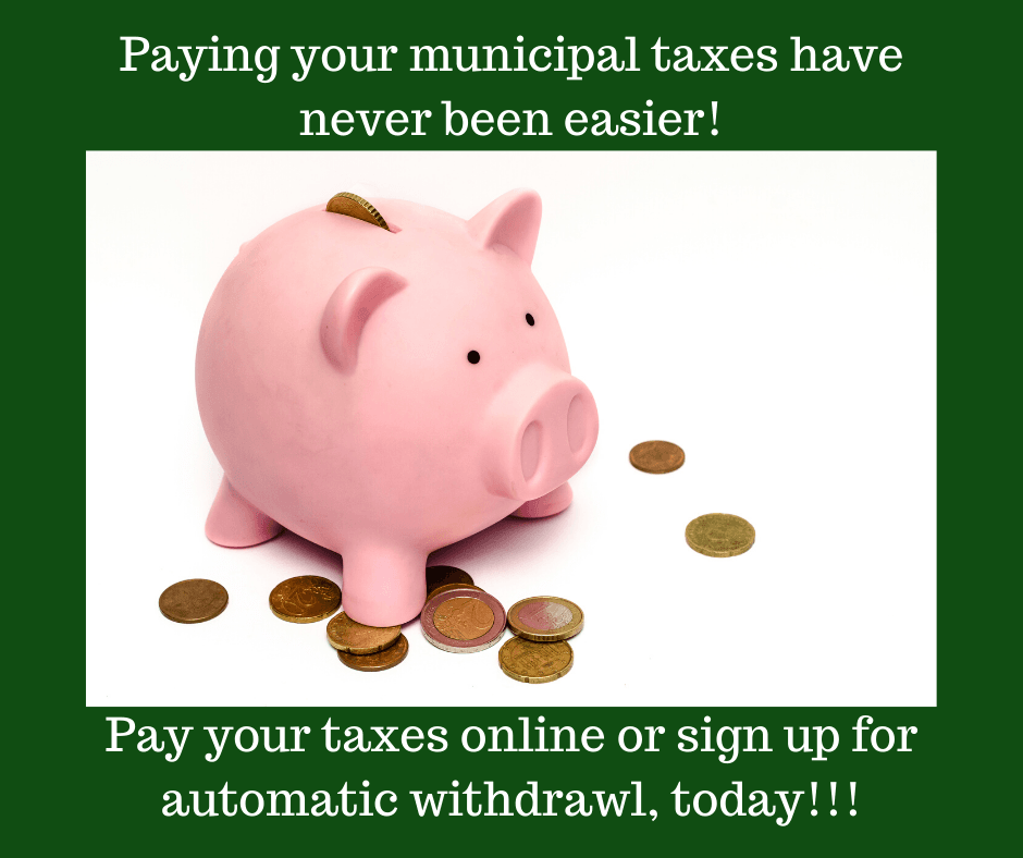 Pay your taxes online or sign up for automatic withdrawl, today!!! (2)