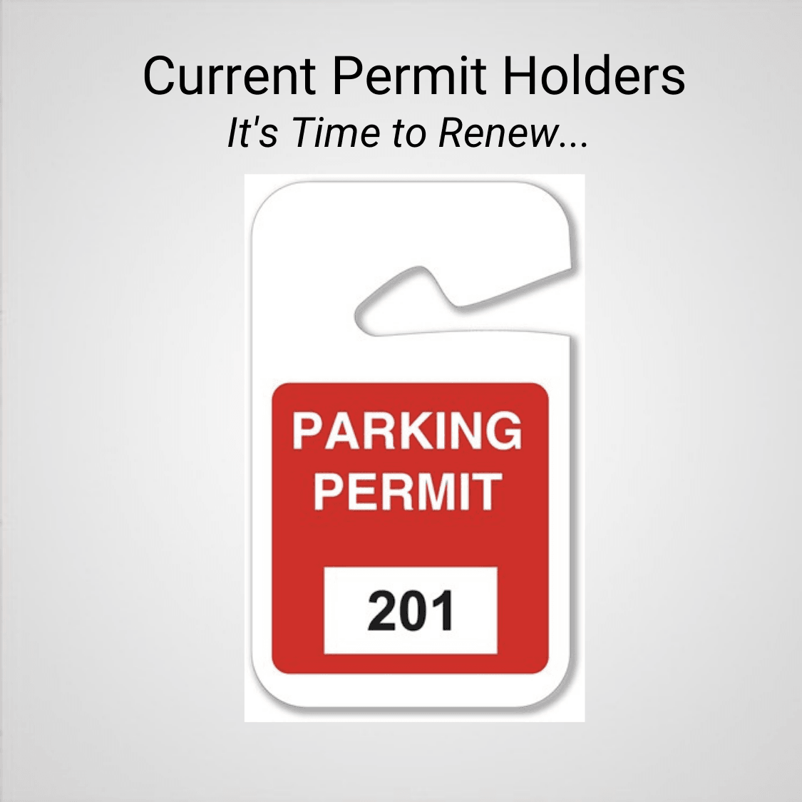 Parking Permit Renewals