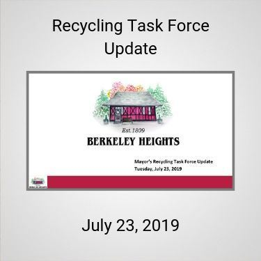 Recycling Task Force Update - July 23 2019